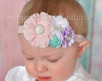 Baby Headband, Infant Headband, Newborn Headband, Baby Headband, Spring Headband, Toddler Headband, Pastel Headband, Easter Headbands