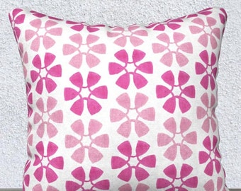 "Hot Pink Girls Pillow, Pink  Pillow Cover, Hot Pink Kids Accent Pillow, Hot Pink Kids Throw Pillow, Hot Pink Lumbar Pillow, 14x20, 18"""