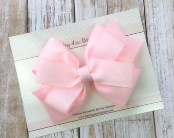 Pink Hair Bow - Hair Bow - Pink Toddler Bow - Baby Pink Girls Bow - Pink Hair Clip - Pink Bow - Hair Bows for Girls - Pink Baby Bow