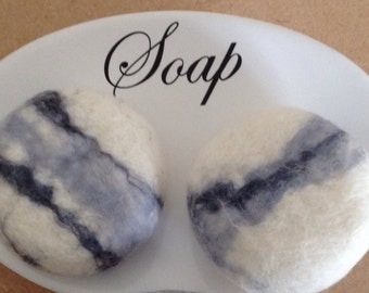 2 SOAP pebbles, Bathroom Decor, Hand Felted Soap, felted soap,