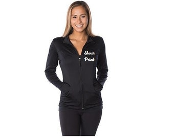 Custom Embroidery Independent Trading Co. Junior's Poly-Tech Zip Jacket