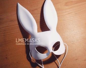 White Bunny Rabbit Leather Mask Halloween Masquerade Erotic Fetish Sexy Playboy Costume Carnival Lady Gaga Catwoman Party Ball Eyewear Hot