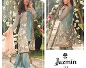 Baroque Jazmin Spring/Summer Lawn 2017, lawn shalwar kameez, women clothing, colorful kameez, pakistani/indian/bengali clothes