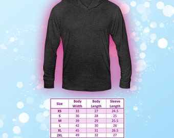 S to 2X Lightweight Tri Blend T-shirt Hoodie Unisex Tee Upgrade