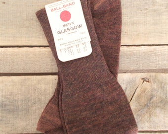 Men's Glasgow Wool Socks, Size 10-1/2, Brown