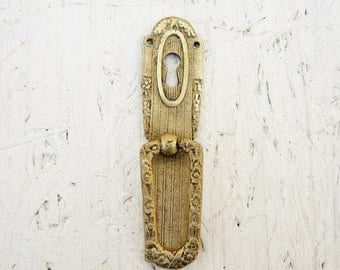 Antique Brass Key Hole Plate Escutcheon