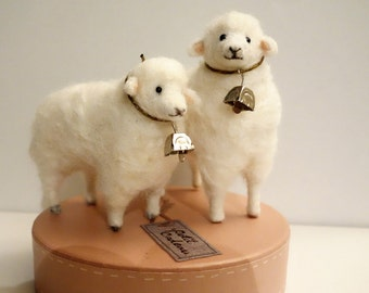 Two Felted Sheep