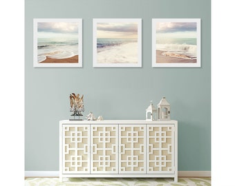 Beach Wall Art Print Set, Art For Bathroom, Ocean Wall Decor, Beach House Decor, Triptych Wall Art, Beach Photography, Beach Wall Art