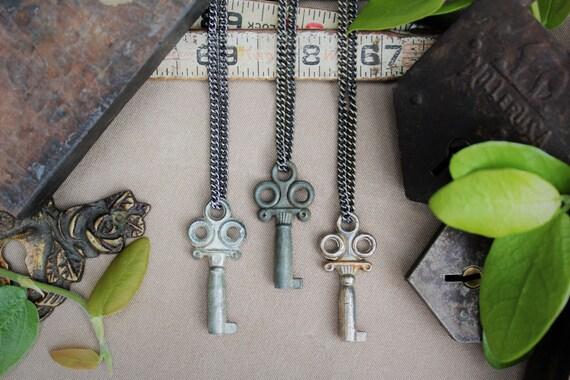 Fancy Antique Key Necklace | Lavish & Light | Authentic | Vintage | Steampunk | Limited #'s!