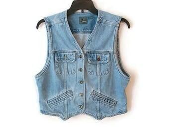 Vintage Jean Jacket Vest Liz Claiborne Wear size Medium