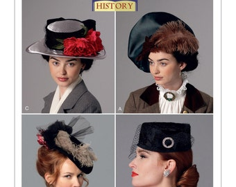 Butterick B6397 Misses' Hats in Four Styles Historical Costume Sewing Pattern
