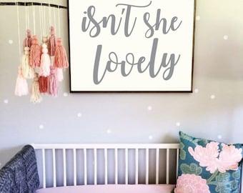 Printable Nursery Art - Isn't She Lovely - Three Sizes for One Price - Baby Girl Nursery - Girl Nursery Print