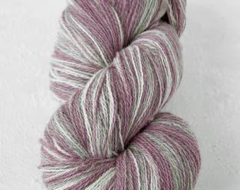 Gradient Aade Long artistic wool, Yarn for knitting, crochet.  Grey-Lila gradient yarn