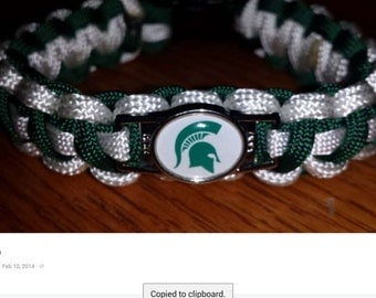 Michigan State Paracord Bracelet