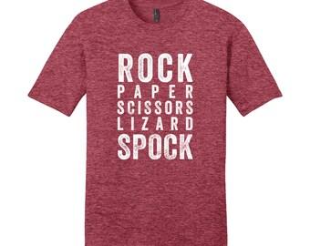Rock Paper Scissors Lizard Spock Shirt Spock T-Shirt Funny Nerdy Shirt Geeky Shirt Nerdy Christmas Gifts Funny Nerd TShirt Funny Mens TShirt