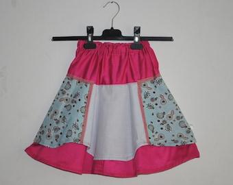 Girls Skirt, Toddler Skirt, Size 4T - 5T, Girls Layers Skirt, Girls Pink Skirt, Light Blue Skirt, Little Girl Skirt, Girls Gift, Shabby Girl