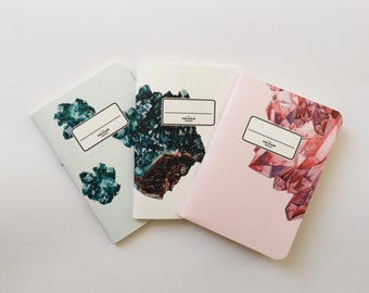 Minerals Pocket Notebooks - 3 Pocket Notebooks Pack - Journal - Sketchbook - Blank pages - Lined pages - Dotted pages
