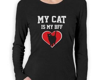 My Cat is My BFF - Women's Long Sleeve T-Shirt