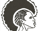 African American Stamp, Cling Stamp, Female cling stamp, Pride, Kwanzaa, Kwanzaa Stamp