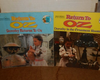 Lot of 2 RETURN TO OZ Golden Look Look Books. 1985 Disney