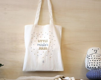 Bag personalized child, diaper bag, Tote, bag, canvas bag, nursery bag, school bag, baby shower gift, Baby Mama