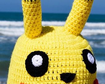 Pokemon Pikachu -Inspired Character Crochet Hat