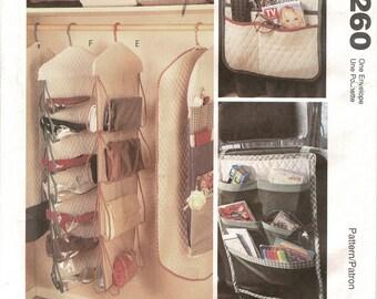 McCall's 8260 Closet Organizers crafts sewing pattern, Nancy Zieman, Vintage 1990s, Shoebag, Garment Bag, Gift Wrap organizer UNCUT