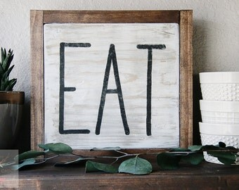 EAT Wood Sign