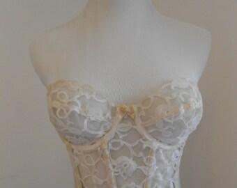 Vintage cream ecru bustier bra - Valmont