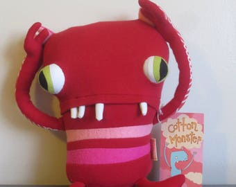 SALE OOAK Amour Little Monster handmade by Cotton Monster adorable