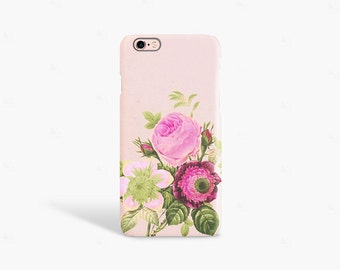 iPhone 7 Case Floral iPhone 6 case Vintage Phone 6s Case Floral iPhone SE Case Vintage Floral Spring Flowers Pink Pastel
