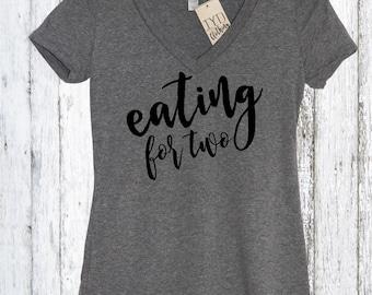 Eating For Two Womens Shirt, Preggers Shirt, Prego Shirt Pregnant Mom To Be Womens Shirt, Baby Shower Gift, Mom to be Shirt, Thanksgiving
