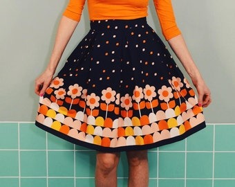 Daisy rock LOTTE country black POOL retro pleated skirt
