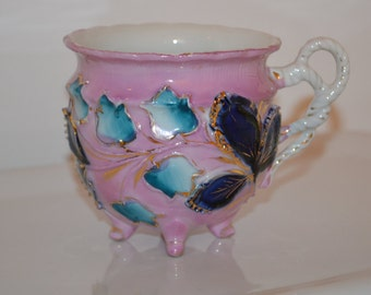 Vintage German Lusterware Footed Tea Cup