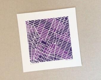NYU Map Print