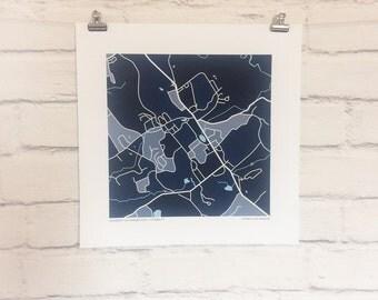 University of Connecticut (UConn) Map Print