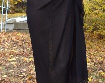 Swim Suit Wrap / Beach Cover Up / Black