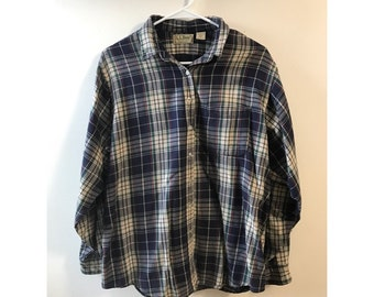 Upcycled LL Bean Flannel