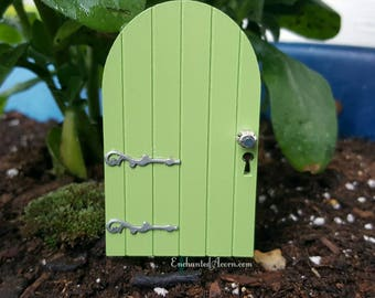 Custom Made Fairy Door Fairy Garden Pixie Door - Fairy Door Miniature Door Dollhouse Miniature Fairy House Fairy Garden Accessories