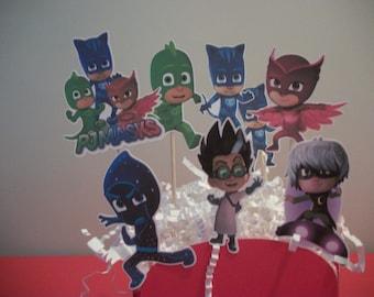 PJ Masks Cupcake Toppers, Set of 8