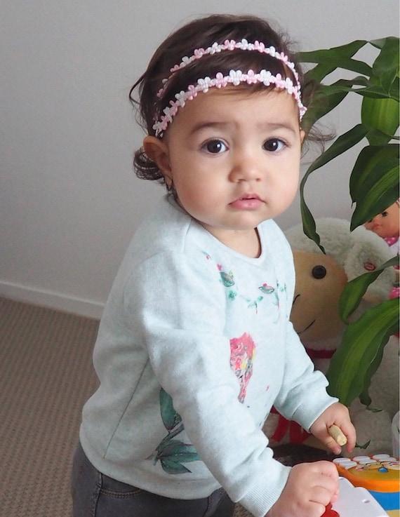 Baby Headband, Pink Baby Headband, Light Pink Headband, Baby Girl Headband, Headband for Newborn, tiny headbands, newborn photo prop