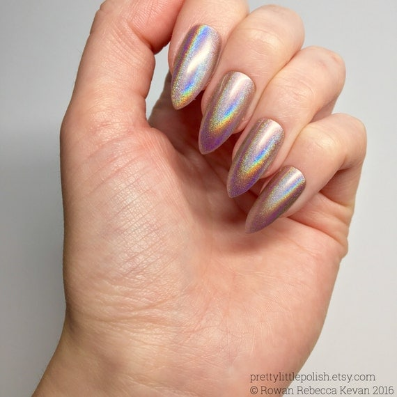 Chrome Nail Powder Cnd: Rose Gold Unicorn Chrome Powder Nails Unicorn Chrome Powder