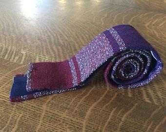50s skinny knit tie Vintage Wool-O-Wisp hand loomed