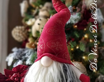 Scandinavian Elegant Christmas Gnome Swedish Vintage Style  Tomte Nisse Elf Santa decoration