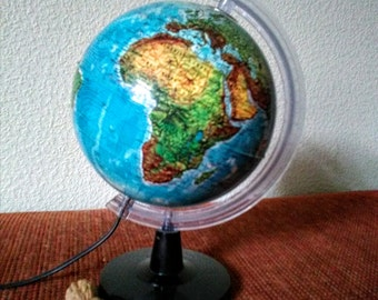 French small world globe lamp