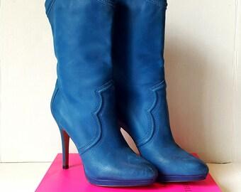 Sz6 boots Cobalt Blue