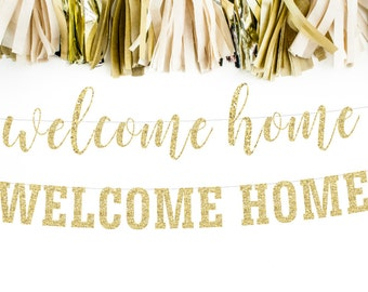 Welcome Home Banner, Welcome Home Sign, Homecoming Banner, Military Homecoming, Welcome Home Party, Welcome Home Decor, Welcome Home Daddy