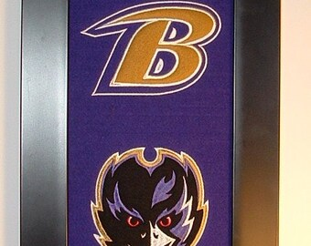 Baltimore Ravens Heritage Team Banner....Framed