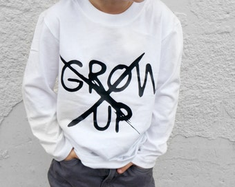 NEVER GROW UP - kids tee - kids hipster shirt - boys hipster clothing - baby boy hipster clothes - hipster baby boy clothes - baby hipster