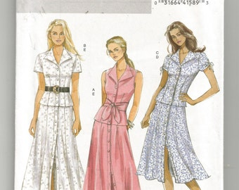 5025 Butterick Sewing Pattern Semi Fitted Top Flared Skirt or Gored Skirt UNCUT Size 8 10 12 14